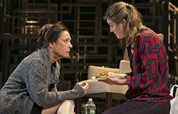Laurie Metcalf as Juliana, Zoe Perry as the young woman, photo Joan Marcus.