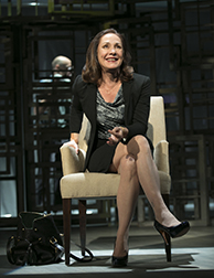 Laurie Metcalf as Juliana, photo Joan Marcus.