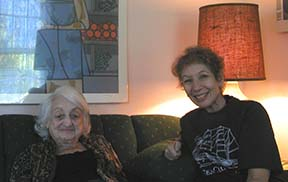 Betty Friedan and Lucy Komisar, photo © Larry Bridwell.