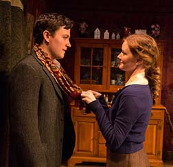 Jon Fletcher as Michael Maguire, Wrenn Schmidt as Katie Roche, photo Richard Termine.