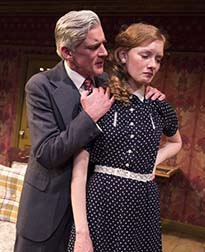 Patrick Fitzgerald as Stanislaus Gregg, Wrenn Schmidt as Katie Roche, photo Richard Termine.