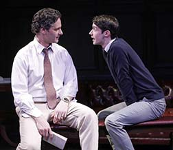 Peter Rini as Sam and Chris Dwan as Perry, photo Carol Rosegg.