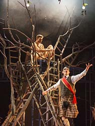 Andrew Durand as The Devil and Stuart Goodwin as The Prince, photo Richard Termine.