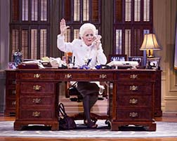 Holland Taylor as Ann Richards at the Governor's desk, photo Ave Bonar.