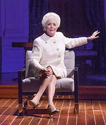 Holland Taylor as Ann Richards, photo Ave Bonar.