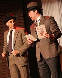 Ned Eisenberg as Fred, Aaron Serotsky as Mickey, with Red Channels, photo