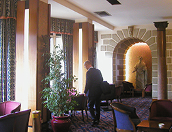 Imperial Hotel lounge.