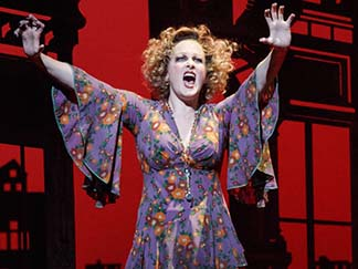 Katie Finneran as Miss Hannigan, photo Joan Marcus.