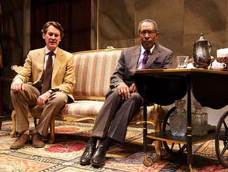 Ezra Barnes as Andrew Peric, Michael Rogers as Robert Mugabe, photo Joseph Henry Ritter.