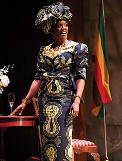 Rosalyn Coleman as Grace Mugabe, photo Joseph Henry Ritter.