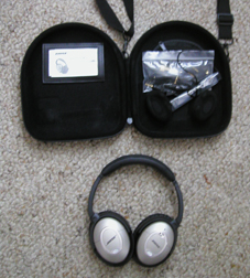 Bose headset with case.