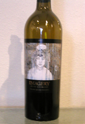 Imagery Estate Winery artistic bottle, photo Lucy Komisar.