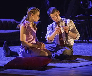 Celia Keenan-Bolger as Laura and Brian J. Smith as The Gentleman Caller, photo Michael J. Lutch.