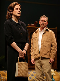 Hallie Foote as Sybil Borden and Cotter Smith as Howard Ratliff, photo Joan Marcus.