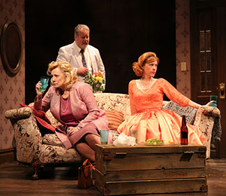 Betty Buckley as Gertrude Ratliff, Adam LeFevre as Albert Price and Veanne Cox as Julia Price, photo Joan Marcus.