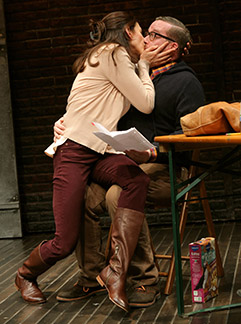 Jessica Hecht as She, Michael Cyril Creighton as Kevin, photo Joan Marcus.