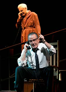 John McMartin Sen. Richard Russell, Bryan Cranston as LBJ, photo Evgenia Eliseeva.