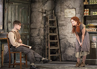 Daniel Radcliffe as Billy and Sarah Green as Helen McCormick, photo Johan Persson.