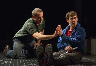 Ian Barford as Ed, Alexander Sharp as Christopher, photo Joan Marcus.