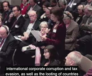 Lucy Komisar questions to Mikhail Khodorkovsky about international corruption & tax evasion.