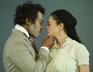 Austin Smith as George and Amber Gray as Zoe, photo Gerry Goodstein.