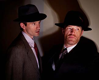 Nathan Darrow as Ben Farrell and Jon Froehlich as Detective Jones, photo Carrie Leonard.