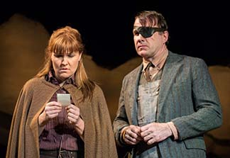 Kelly McAndrew as Macon and Ted Koch as Will, photo Marielle Solan.