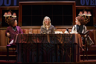 Ali Ahn as Susan, Elisabeth Moss as Heidi, and Elise Kibler as Denise, photo Joan Marcus.