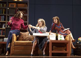 Ali Ahn as Susan, Leighton Bryan as Lisa, and Elise Kibler as Denise, photo Joan Marcus.