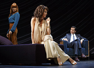 Kelly Reilly as Kate, Eve Best as Anna, Clive Owen as Deeley, photo Joan Marcus.