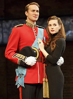 Oliver Chris as William and Lydia Wilson as Kate, photo Joan Marcus.