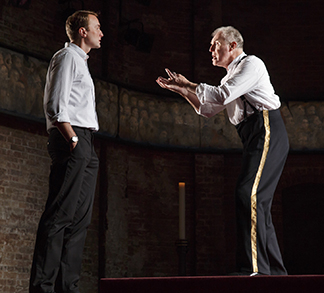 Oliver Chris as William and Tim Pigott-Smith as Charles, photo Joan Marcus.