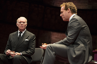 Tim Pigott-Smith as Charles and Adam James as Prime Minister Evans, photo Joan Marcus.
