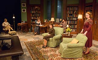 Mary Emily Walton as Jean Wade and her colleagues, photo Richard Termine.