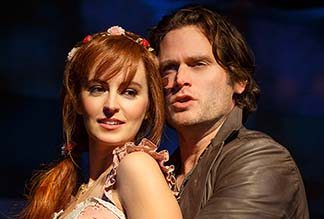 Ahna O'Reilly as Rosamund and Steven Pasquale as Jamie, photo Joan Marcus.