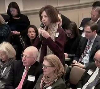 Lucy Komisar asking about investor-state dispute resolution.
