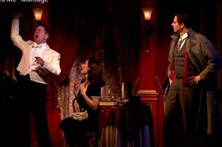 waiter, Amalia and Georg at the Imperial Cafe, from video.