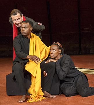Sean O'Callaghan, Ery Nzaramba and Carole Karemera, photo Richard Termine.