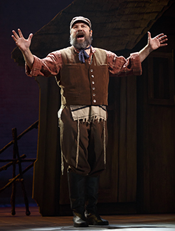 Danny Burstein as Tevye, photo Joan Marcus.