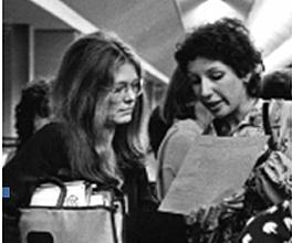 Gloria Steinem and Lucy Komisar, photo Diana Mara Henry.