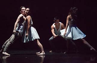 Dancers Dana Husary, Sarah Hong, Edgar Aguirre, John Barclay.