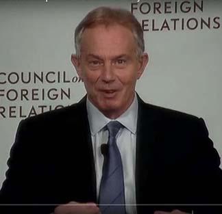 Tony Blair, Bush's partner in Iraq disaster, reinvents himself as a humanitarian