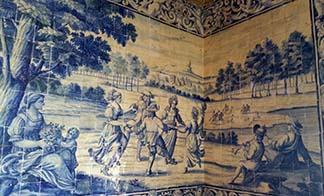 Azulejos in Palaceof Sintra.